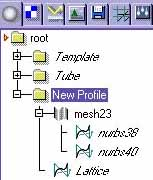 "A Copy of ""Template"" Level, renamed as ""New Profile"""